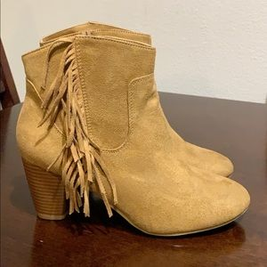 Chinese Laundry boots with fringe